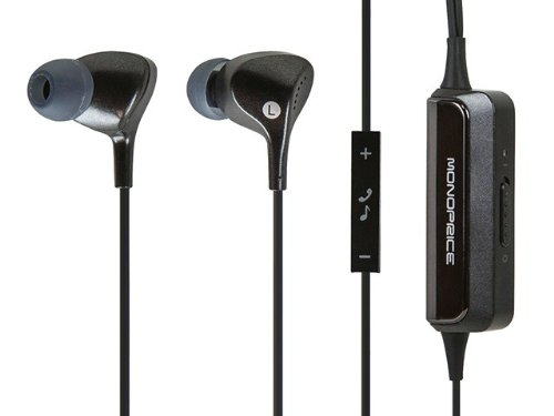Monoprice Enhanced Active Noise Cancelling Earphones - Retail Packaging - Black