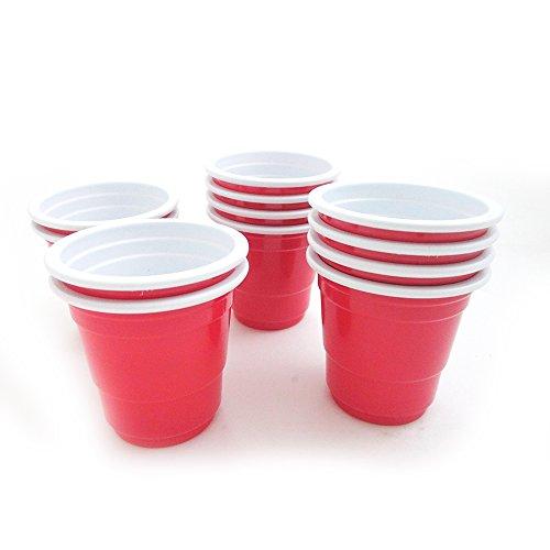 48 red solo cups 2 fl oz plastic shot glasses mini for Small plastic cups