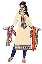 Krishna Chiku Color Cotton Printed Dress Material With Dupatta. With Dupatta (DOLLY_CHIKU) ...