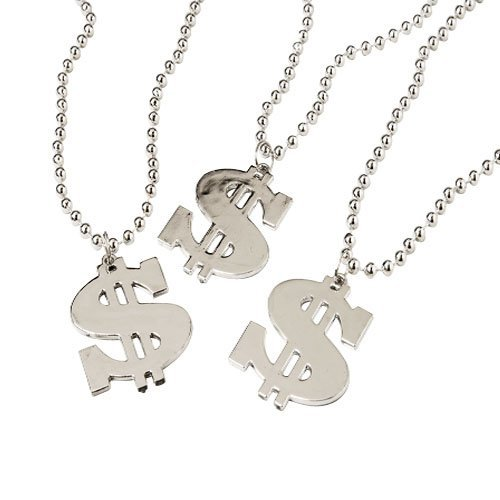 Dollar Sign Necklace,1 Dozen