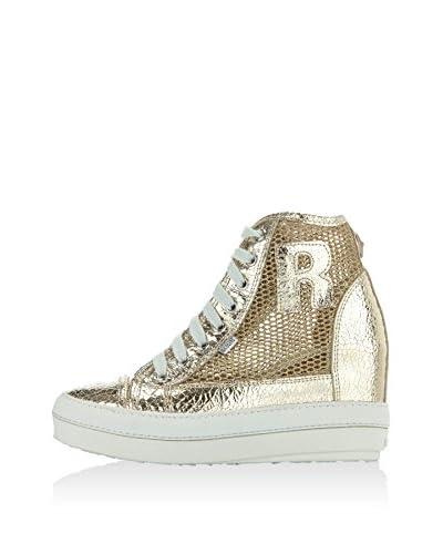 Ruco Line Zapatillas de cuña 2902 Glitter Lamé Oro