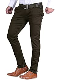 Van Galis Fashion Wear Dark Green Formal Trouser For Men