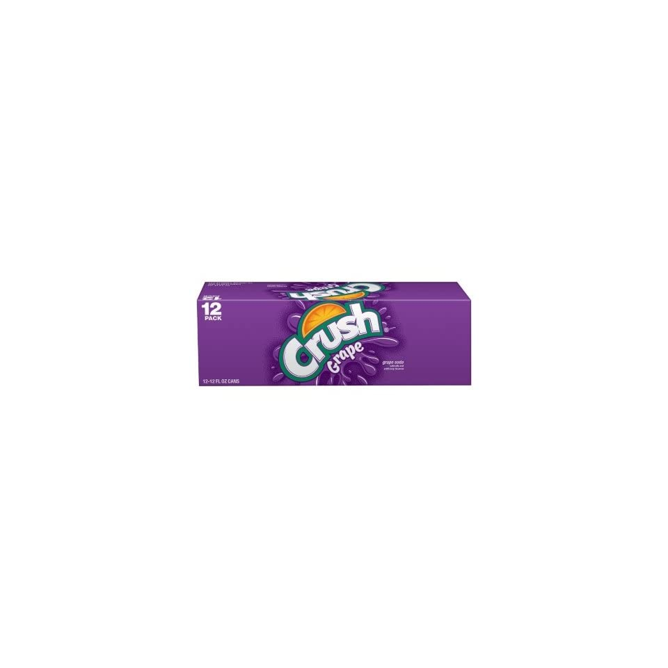 Crush Grape Soda, 12 oz Can (Pack of 24) Grocery & Gourmet Food