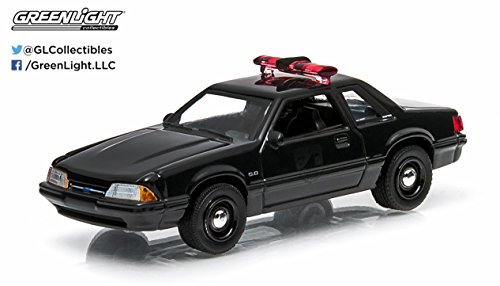 1987 Ford Mustang Police Car * Black Bandit Collection * Series 11 Greenlight Collectibles 2014 Limited Edition 1:64 Scale Die-Cast Vehicle