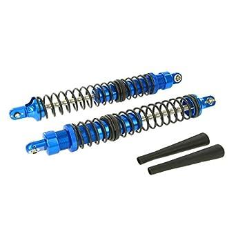 GPM Racing GPM115 Alloy Adjustable Rear Shock Set for 1:5 HPI 5B + Other HPI Models, Blue