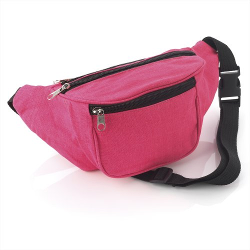 Bright Neon Pink Fabric Bum Bag / Belt Bag - Festivals /Club Wear/ Holiday Wear