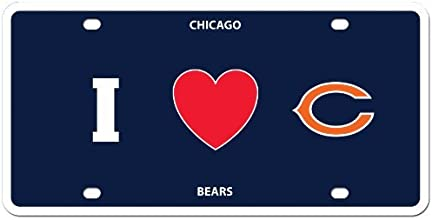 NFL Chicago Bears Styrene Plate- I Heart Style by Siskiyou