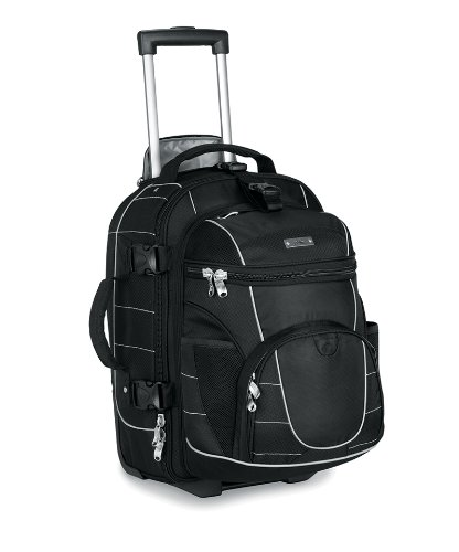 High Sierra A.T. Gear Ultimate Access 21″ Carry-On Wheeled Backpack with Removable Day Pack in Black