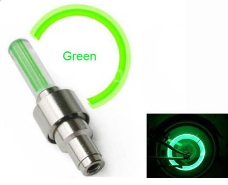 Green Led Flash Tyre Wheel Valve Cap Light For Car Bike Bicycle Motorbicycle Wheel Light Tire Light