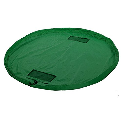 ERolldeeP Homecube Large 60 Inch Diameter Large Portable Kids Children Infant Baby Play Mat Toys Storage Bags Organizer Quick Pouch Green Color (Expresso Storage Bins compare prices)