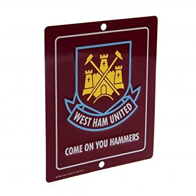 West Ham United Metal Window Sign