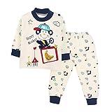 Switchali Manches longues filles bébé pyjama Vêtements pour enfants Costumes 2 Piece Sleepwear (1 ans, Bleu foncé)...