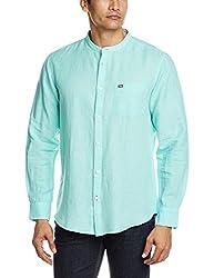 Arrow Sports Men's Casual Shirt (8907259812205_ASRS3097_46_Aqua)