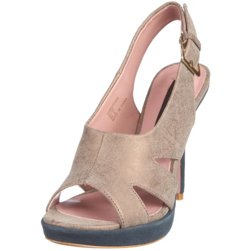 French Connection Women's Tegan Taupe Slingback Heels 1486547209 3 UK