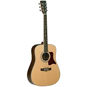 Tanglewood AllSolid Spruce/Mahogny Guitar, Natural Satin (TW15-NS)