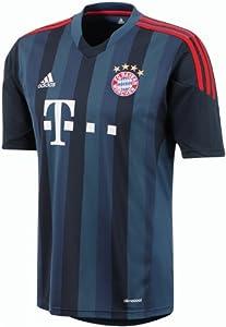 adidas Herren Kurzärmliges Fußballtrikot Fc Bayern 3rd Away Jersey, Satellite/Poppy, L, Z26143