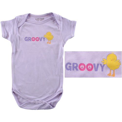 Baby-Says Bodysuit - Groovy Chick - Buy Baby-Says Bodysuit - Groovy Chick - Purchase Baby-Says Bodysuit - Groovy Chick (Luvable Friends, Luvable Friends Apparel, Luvable Friends Toddler Boys Apparel, Apparel, Departments, Kids & Baby, Infants & Toddlers, Boys, One-Pieces & Rompers)