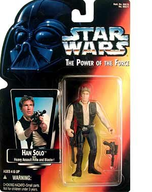 STAR WARS - HAN SOLO - POWER OF THE FORCE - GREEN CARDED - ACTION FIGURE