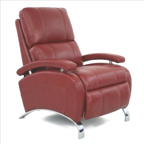 Barcalounger Oracle II Leather Recliner in Stargo Red