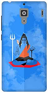 The Racoon Lean shiva minimal blue hard plastic printed back case / cover for Xiaomi Redmi