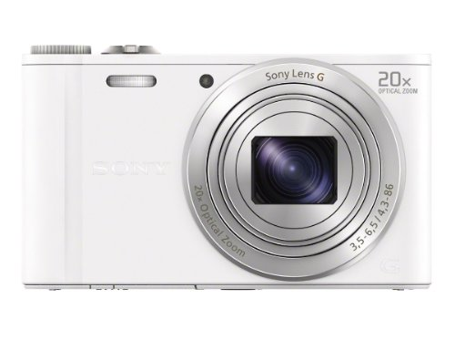 Sony DSC-WX300/W 18 MP Digital Camera with 20x Optical Image Stabilized Zoom and 3-Inch LCD (White)