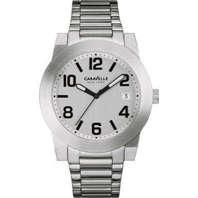 Caravelle New York 43B142 Mens Sport Silver Steel Bracelet Watch