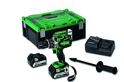 hitachi-ds18dbl2-perceuse-visseuse-en-coffret-hitcase-avec-2-batteries-136-nm-18-v-5-ah