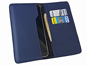nKarta ™ OD Blue Flip Flap Wallet Pouch Mobile Cover Case with Card holder Slots for Gionee Pioneer P6