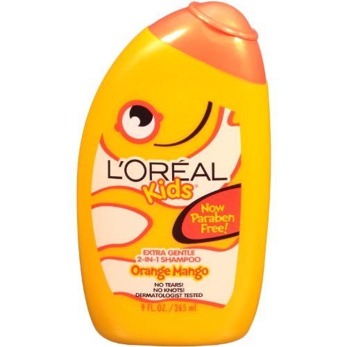 L'Oreal Paris Kids 2-in-1 Shampoo for Extra Shine, Orange-Mango Smoothie, 9-Fluid Ounce