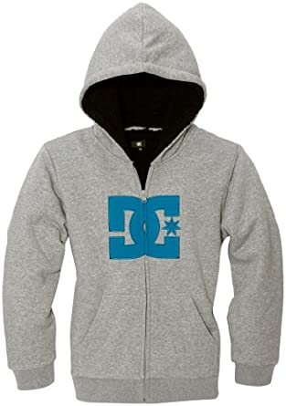 Dc shoes - sweat-shirt - à logo - garçon - gris (heather grey) - s