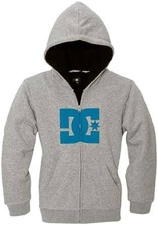 Dc shoes - sweat-shirt - à logo - garçon - gris (heather grey) - s
