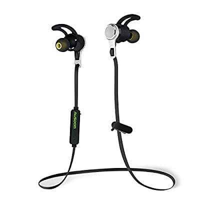 Ausdom Lightweight Wireless Earbuds Bluetooth V4.1 Earphones, Sports In-Ear Headphones with Microphone for Running for Smartphone Computer Laptop