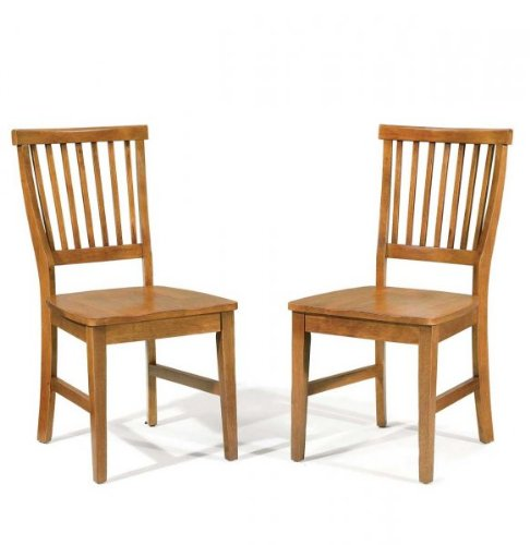 Home Styles Arts and Crafts Wood Side Chair in Cottage Oak Finish (Set of 2)