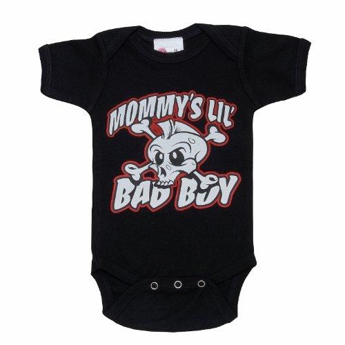 Lollipop Moon Mommy'S Little Bad Boy Baby Creeper front-900867