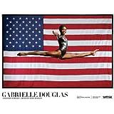 (24x32) Gabrielle Douglas - Champion, Gymnast, American Gold Medalist Poster by Jonas Karlsson