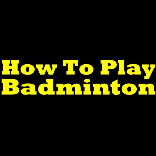 how to play badminton for beginners pdf