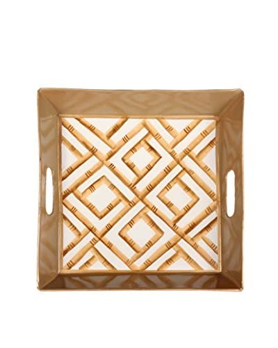 Jayes Bamboo Square Tray, Cream