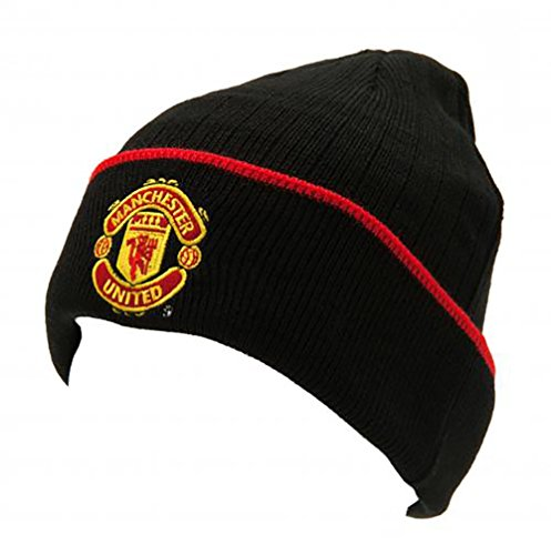manchester-united-fc-official-gift-knitted-bronx-beanie-hat-rrp-999-black-with-red-rim