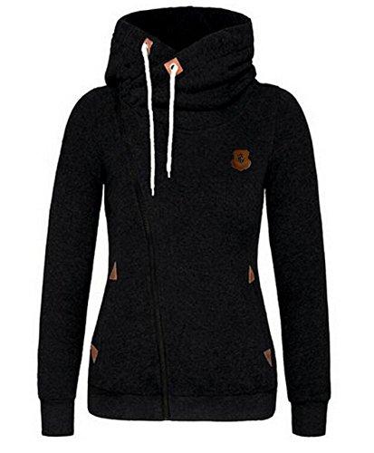 Minetom-Femmes-Automne-Hiver-Printemps-Capuche-Veste-Mode-Casual-Outerwear-Oblique-Zipper-Manteau