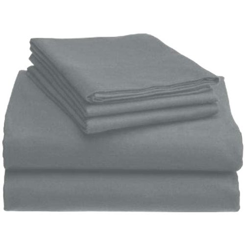 Marrikas Heavyweight 6 Oz. German Flannel Sheet Set Twin Silver Grey front-882530