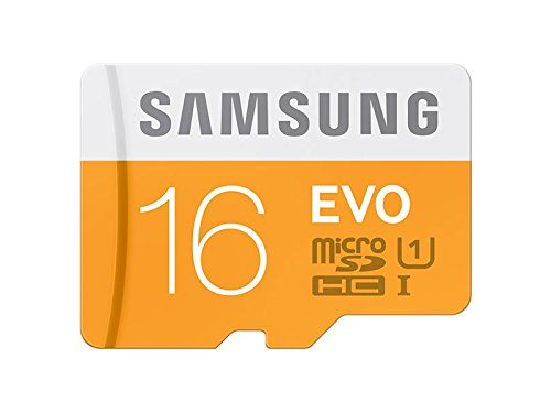 Samsung Memory 16 GB Evo MicroSDHC UHS-I Grade 1 Class 10 Memory Card with SD Adapter