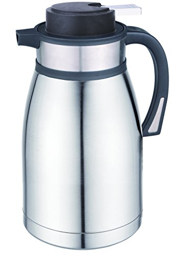 Coox 2.5L Premium Stainless Steel Thermal Carafe Jug - Unbreakable Double Wall Vacuum Insulated Pot for Hot & Cold Drinks (Vacuum Insulated Thermal Carafe compare prices)