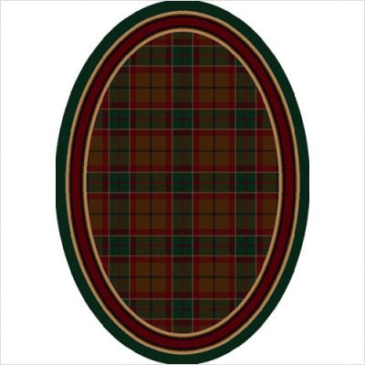 "Signature Magee Tartan Emerald Oval Rug Size: Oval 5'4"" x 7'8"""
