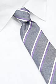 Ultimate Pure Silk Woven Striped Tie