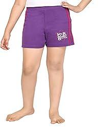 Punkster Purple Basic Shorts