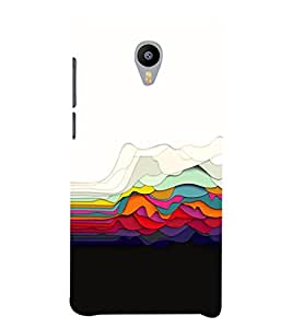 COLOURFULL OVERLAPPING SHEETS DESIGN PATTERN 3D Hard Polycarbonate Designer Back Case Cover for Meizu m3 note::Meizu Blue Charm Note3