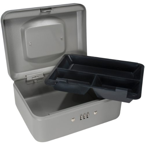 Barska 8-Inch Cash Box With Combination Lock