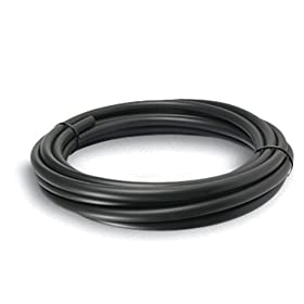 Sunterra 301220 1/2-Inch PVC Tubing for Water Gardening - 20-Foot Roll, Black
