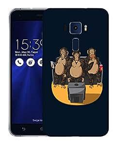 Snoogg Three Monkeys Designer Protective Back Case Cover For ASUS ZENFONE 3 ZE520KL
