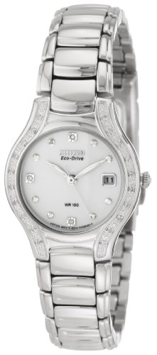Citizen Women's EW0970-51B Silhouette Diamond Eco Drive Watch